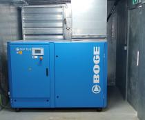 Skrutkový kompresor BOGE SLF75-3 v kontajnery