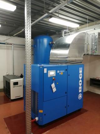 Kompresorová stanica BOGE S60-3 so sušičkou vzduchu
