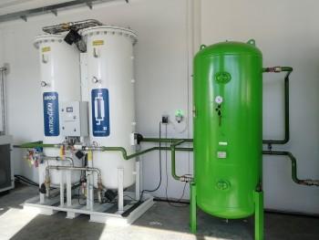 na výrobu a úpravu dusíku pre zváraciu automatovú linku